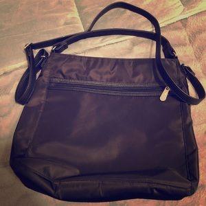 Thirty-One Black Nylon Cross Body Messenger Bag